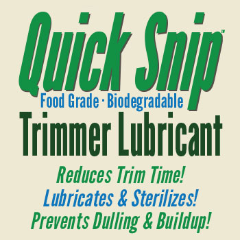 Quick Snip Trimmer Lubricant is a food grade, biodegradable lubricant for plant trimmers, clippers, and snips.